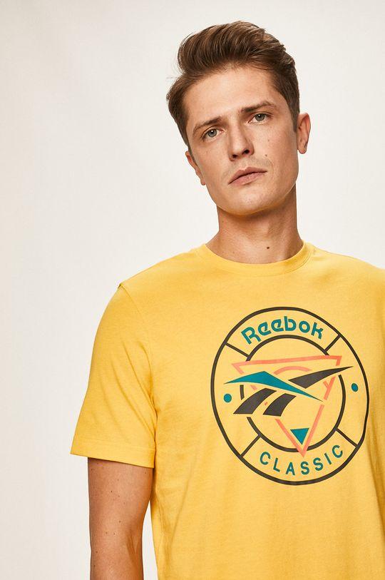 żółty Reebok Classic - T-shirt