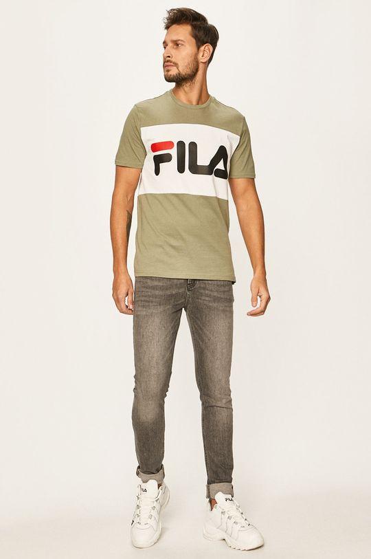 Fila - Pánske tričko hnedozelená