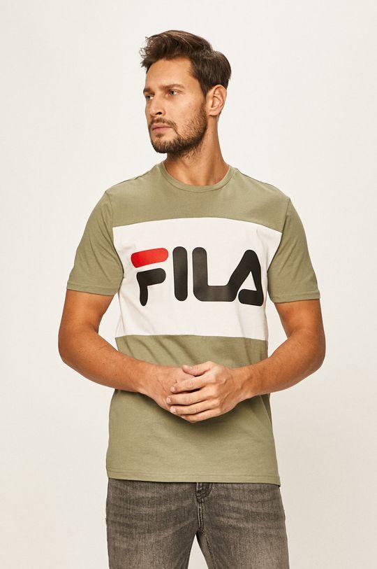 hnedozelená Fila - Pánske tričko