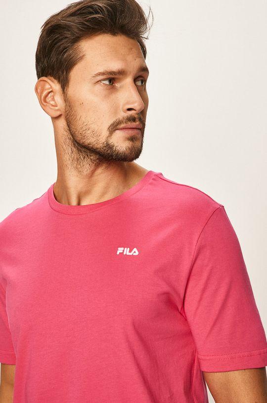 ostry różowy Fila - T-shirt Męski