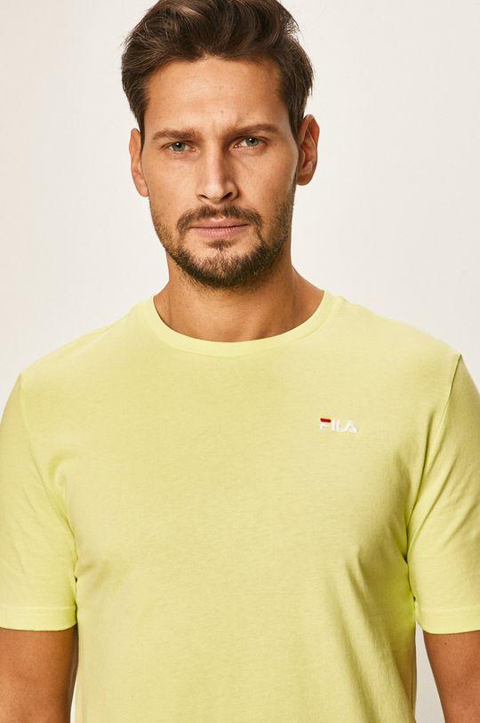 żółto - zielony Fila - T-shirt Męski