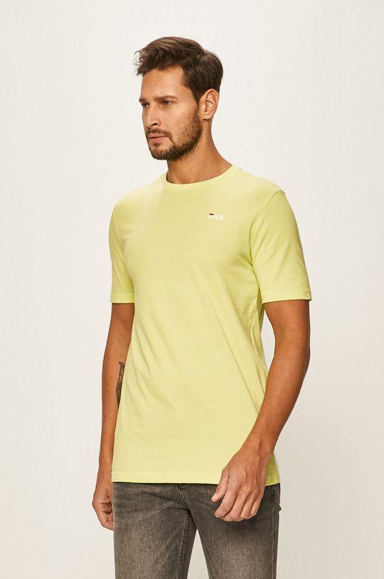 żółto - zielony Fila - T-shirt