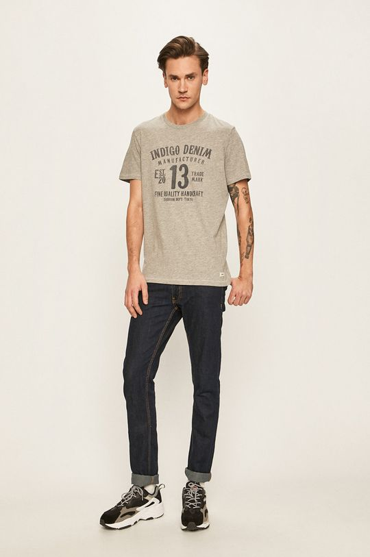 Produkt by Jack & Jones - Pánske tričko svetlosivá