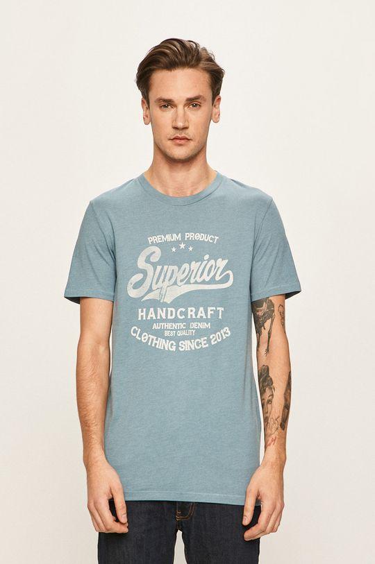 fialová Produkt by Jack & Jones - Pánske tričko Pánsky