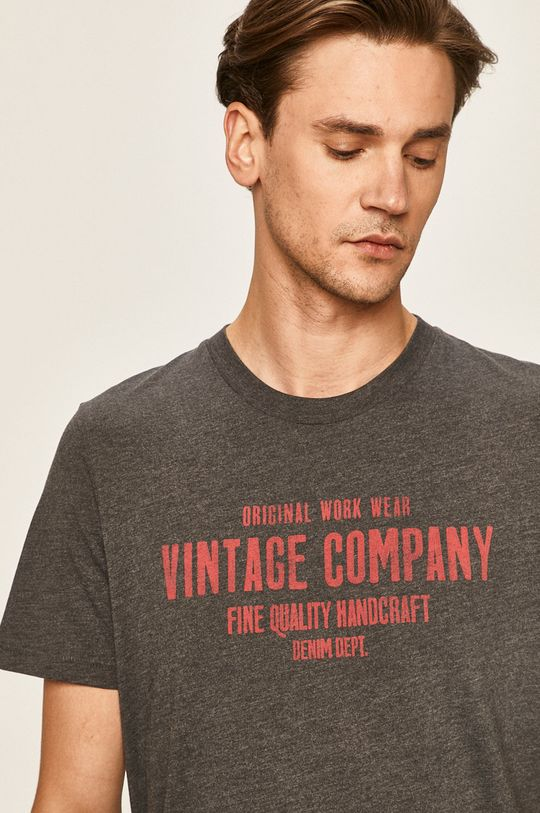 tmavomodrá Produkt by Jack & Jones - Pánske tričko Pánsky