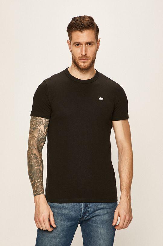 čierna Tom Tailor Denim - Pánske tričko Pánsky