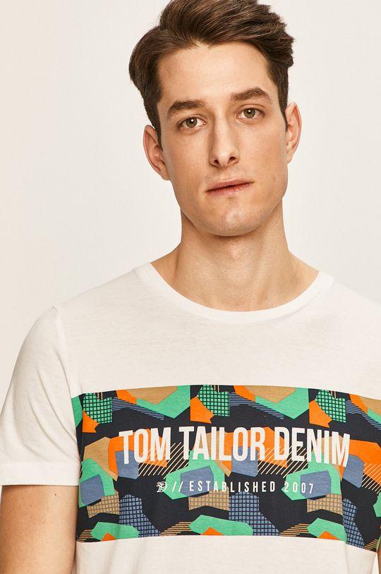biela Tom Tailor Denim - Pánske tričko