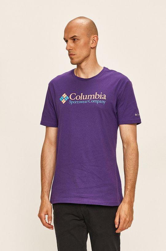 purpurová Columbia - Tričko Pánský