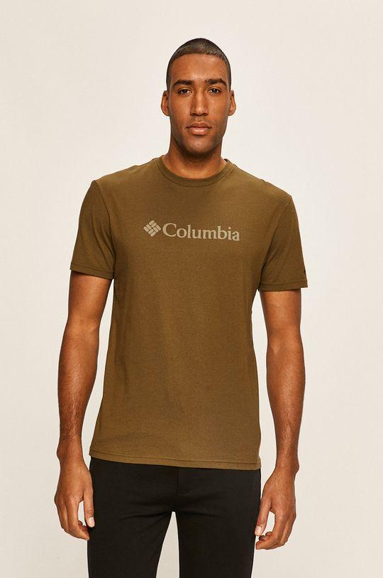 tlumená zelená Columbia - Tričko Pánský