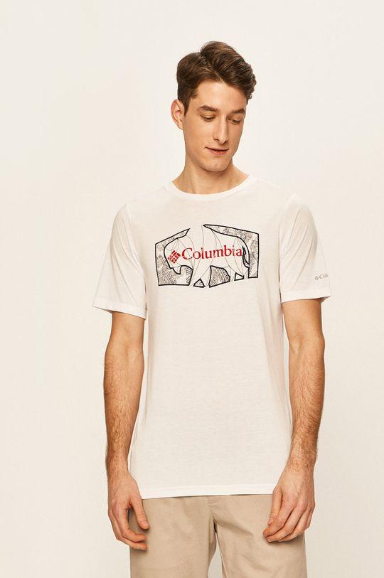 bílá Columbia - Tričko Pánský