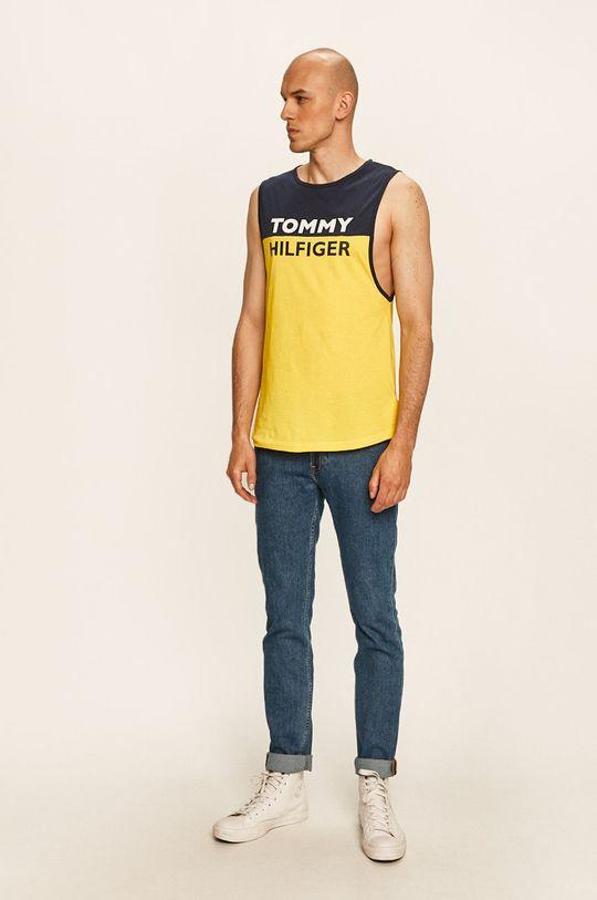 Tommy Hilfiger - T-shirt jasny żółty