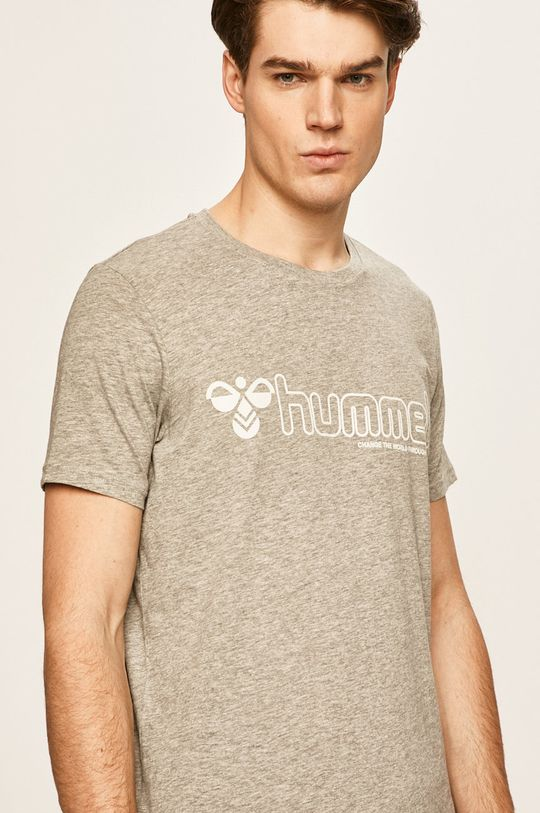 světle šedá Hummel - Tričko Pánský