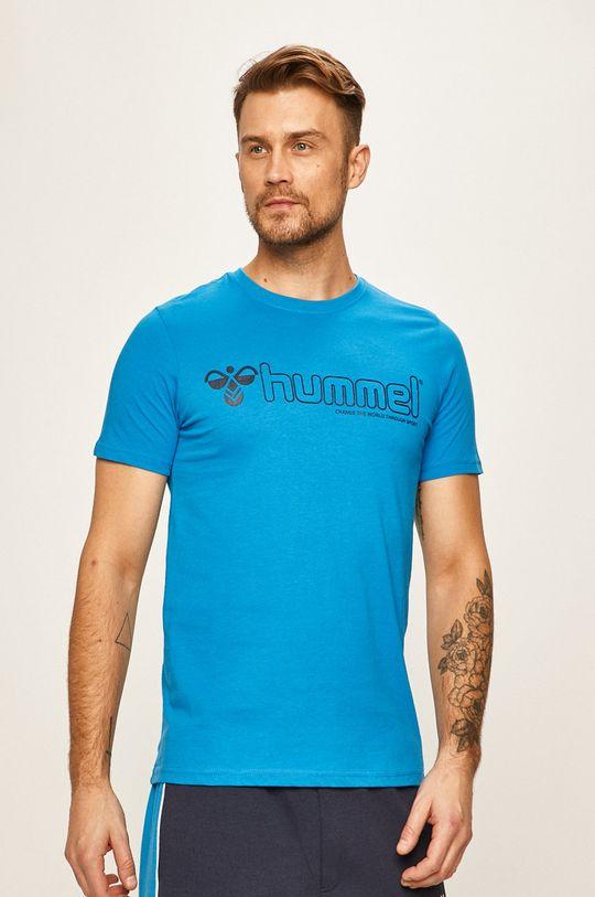 modrá Hummel - Pánske tričko Pánsky