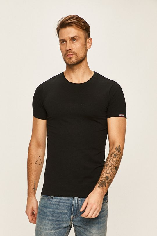 čierna Diesel - Pánske tričko Pánsky