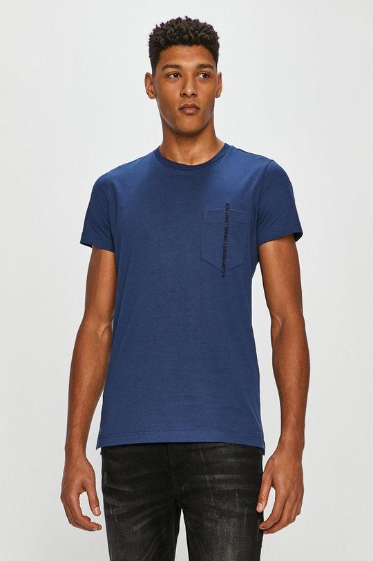 oceľová modrá Diesel - Tričko Pánsky