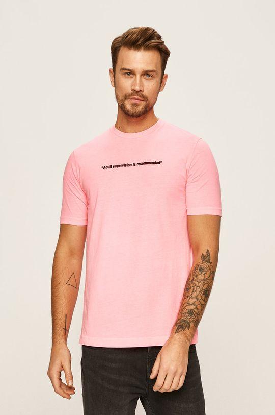 pastelově růžová Diesel - Tričko Pánský