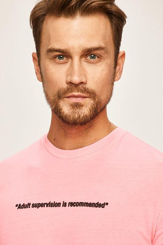 pastelově růžová Diesel - Tričko