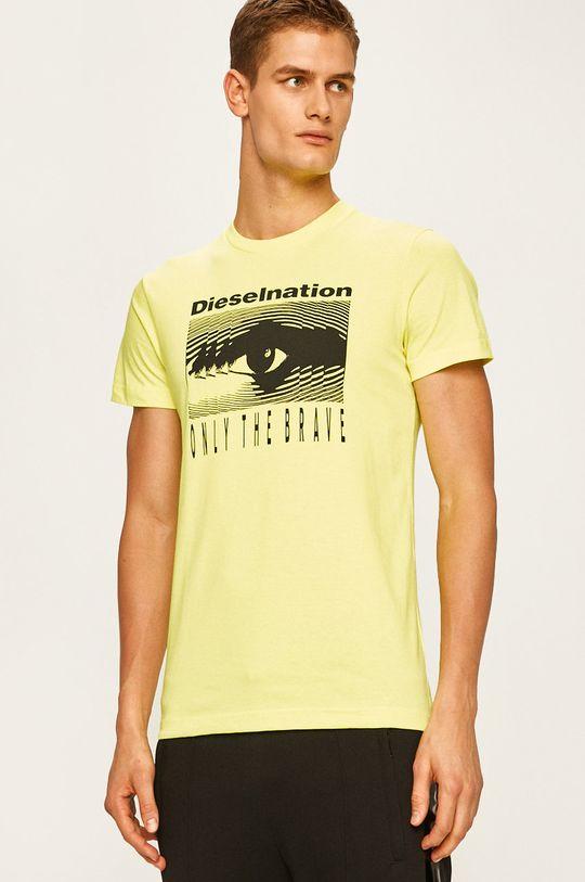 žlutá Diesel - Tričko Pánský