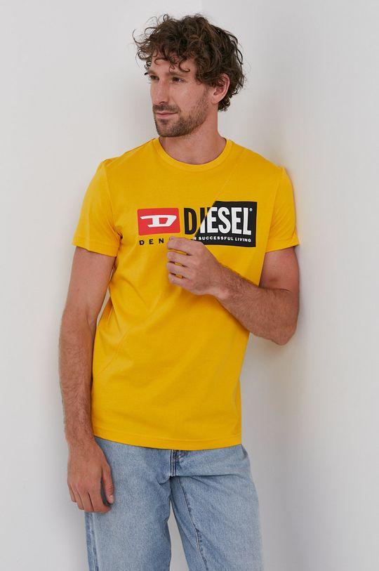 oranžová Diesel - Tričko Pánsky