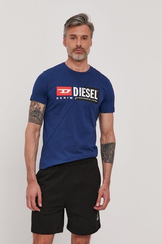 ocelová modrá Diesel - Tričko