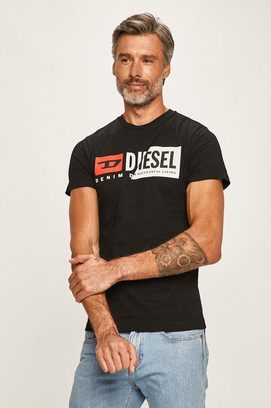 černá Diesel - Tričko Pánský