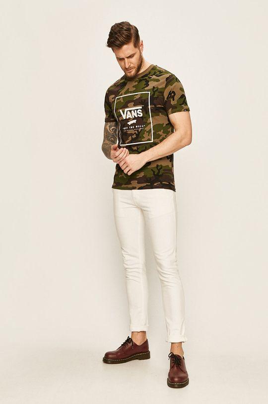 Vans - Pánske tričko vojenská zelená