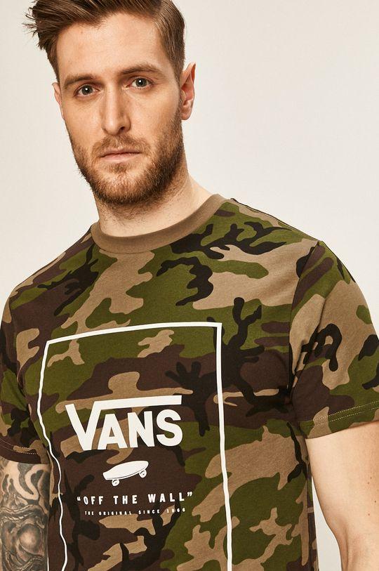 vojenská zelená Vans - Pánske tričko