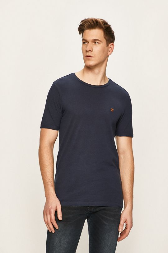 granatowy Premium by Jack&Jones - T-shirt Męski