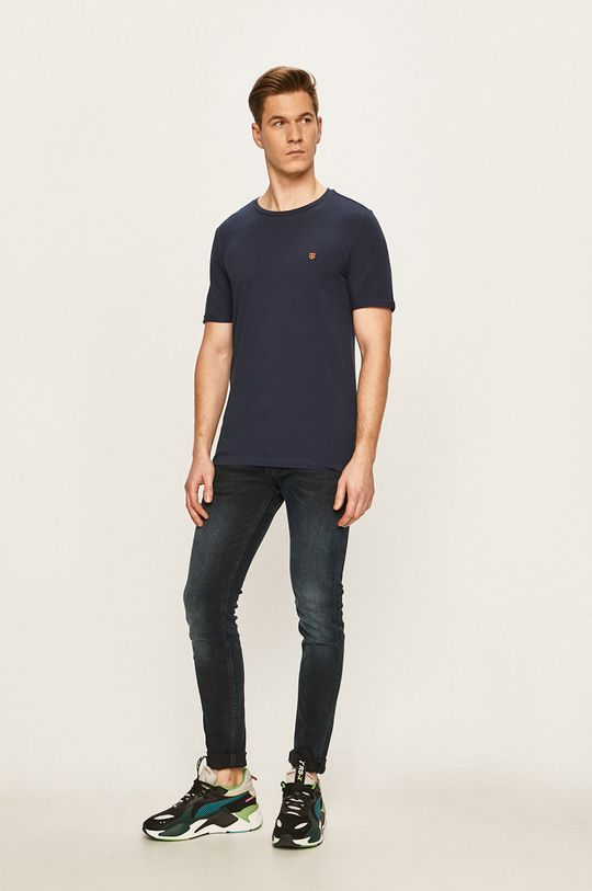 Premium by Jack&Jones - T-shirt granatowy