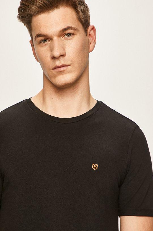 czarny Premium by Jack&Jones - T-shirt Męski