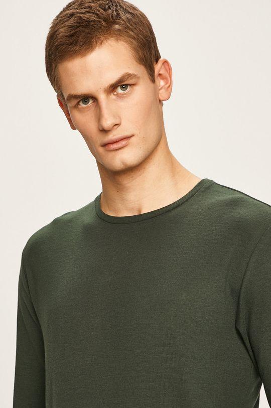 ocelová zelená Only & Sons - Tričko s dlouhým rukávem Pánský