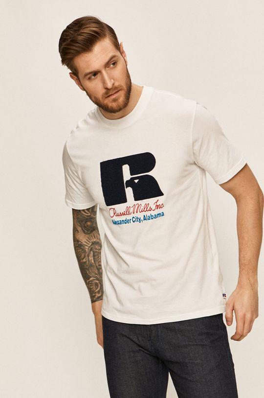 bílá Russell Athletic - Tričko Pánský