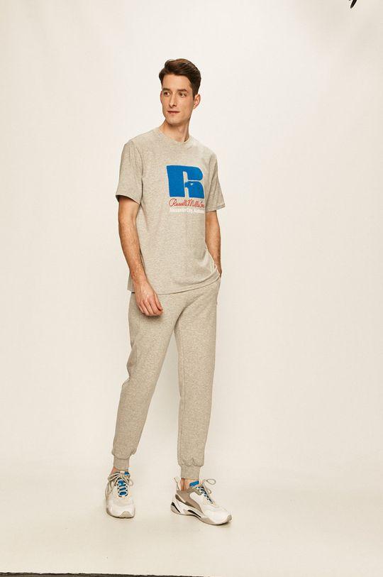 Russell Athletic - Tričko světle šedá
