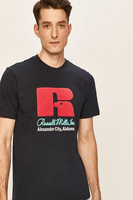 námořnická modř Russell Athletic - Tričko Pánský