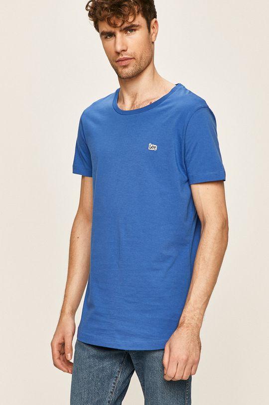 světle modrá Lee - Tričko Pánský