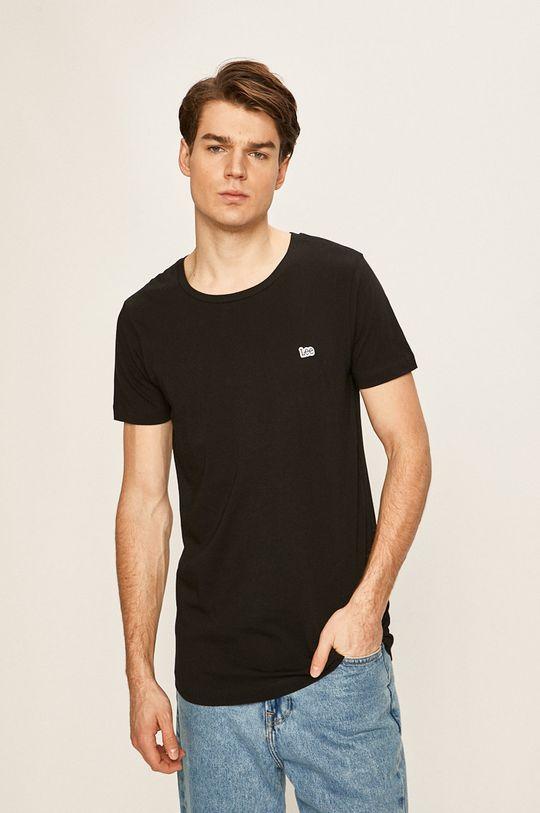 czarny Lee - T-shirt Męski