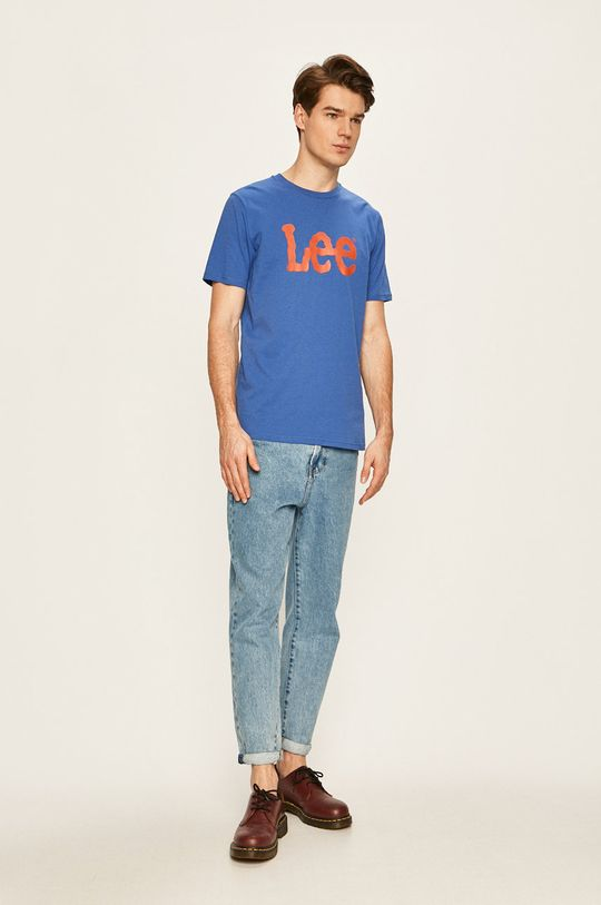 Lee - T-shirt jasny niebieski