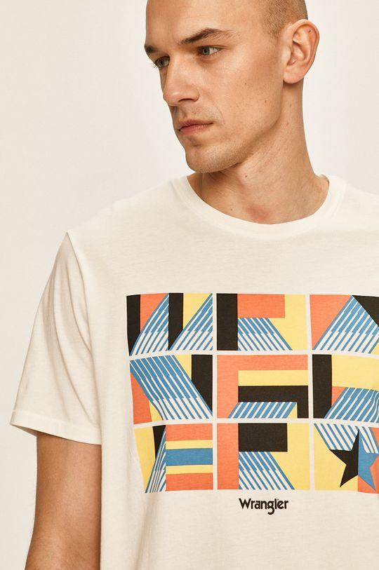 бял Wrangler - Тениска Чоловічий