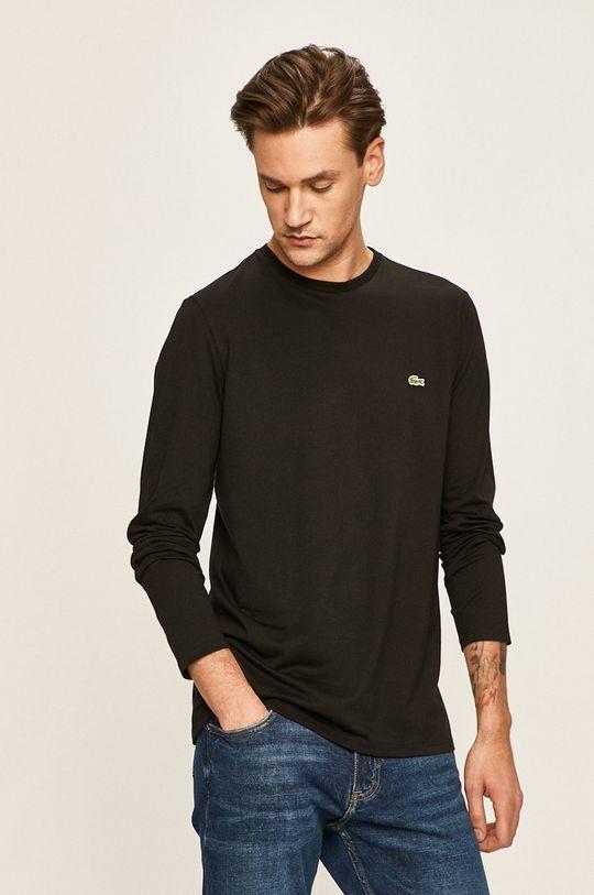 černá Lacoste - Tričko s dlouhým rukávem Pánský