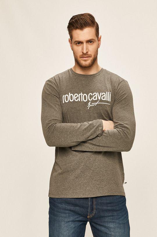 šedá Roberto Cavalli Sport - Tričko s dlouhým rukávem Pánský