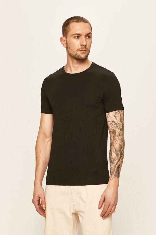 černá Lacoste - Tričko (2-pack) Pánský