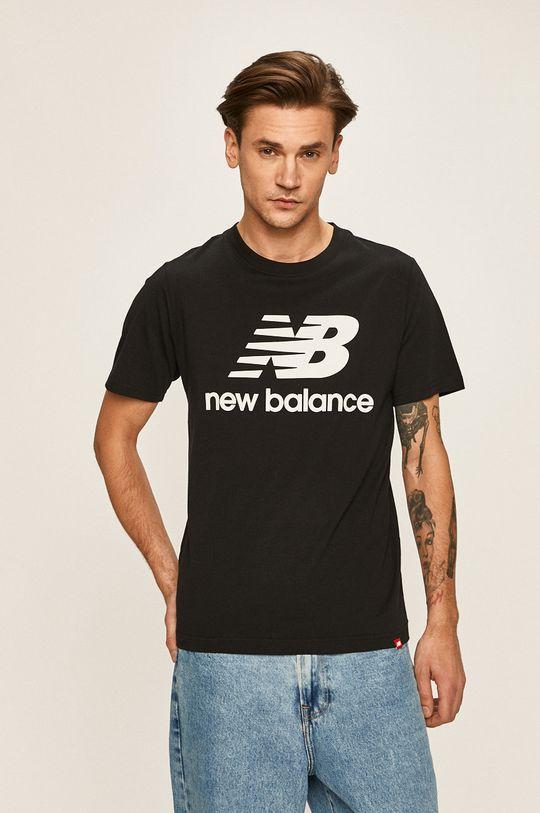 černá New Balance - Tričko Pánský