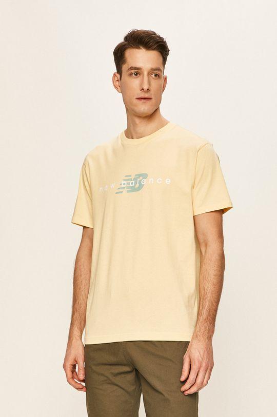 jasně žlutá New Balance - Tričko Pánský