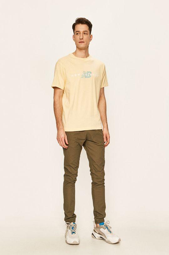 New Balance - Tričko jasně žlutá