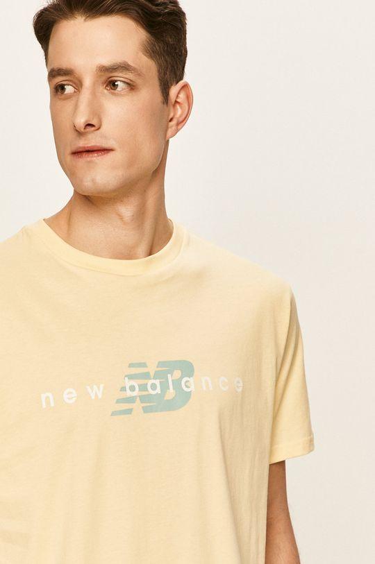 jasně žlutá New Balance - Tričko
