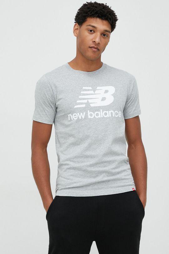 šedá New Balance - Tričko Pánský