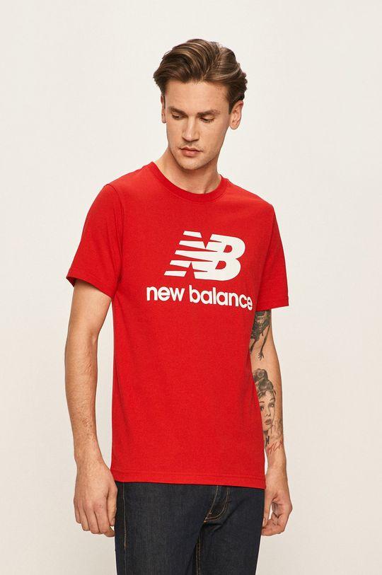 červená New Balance - Tričko Pánský
