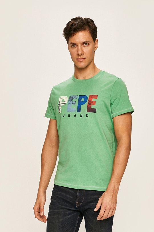 menta Pepe Jeans - Tricou Edison De bărbați
