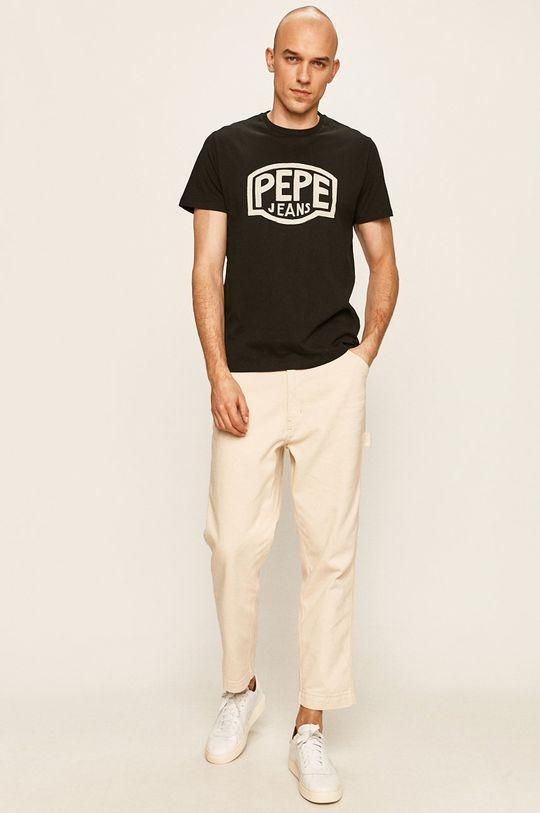 Pepe Jeans - Tricou Earnest negru