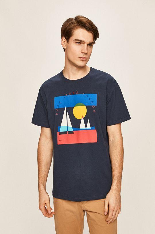 tmavomodrá Pepe Jeans - Pánske tričko Montana Pánsky